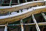 Wood and framework detail at the old Casino, Asbury Park, New Jersey