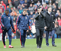 2nd February 2020; Turf Moor, Burnley, Lanchashire, England; English Premier League Football, Burnley versus Arsenal; Arsenal manager Mikel Arteta before the start of the game - Strictly Editorial Use Only. No use with unauthorized audio, video, data, fixture lists, club/league logos or 'live' services. Online in-match use limited to 120 images, no video emulation. No use in betting, games or single club/league/player publications