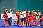 Japan team group (JPN), <br /> AUGUST 31, 2018 - Hockey : <br /> Women's Final match <br /> between Japan 2-1 India  <br /> at Gelora Bung Karno Hockey Field <br /> during the 2018 Jakarta Palembang Asian Games <br /> in Jakarta, Indonesia. <br /> (Photo by Naoki Morita/AFLO SPORT)