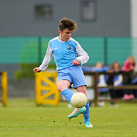 Aaron Connolly (At age 15) of Mervue United U15 in action against Athenry. <br /> <br /> Mervue United v Athenry, 9/5/15, Fahy's Field, Mervue, Galway.