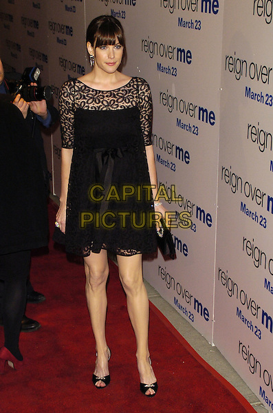 "LIV TYLER.Premiere of Sony Pictures ""Reign Over Me"" Skirball Center at NYU, 566 La Guardia Place, New York, New York, USA..March 20th, 2007.full length black lace dress bag purse .CAP/ADM/BL.©Bill Lyons/AdMedia/Capital Pictures *** Local Caption ***"