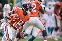 MIAMI, FL, 14.10.2018 – MIAMI DOLPHINS-CHICAGO BEARS – Jogador Taylor Gabriel do Chicago Bears, durante partida válida pela semana 6 da temporada regular da NFL, no Hard Rock Stadium, na tarde deste sábado (14). (Foto: Jayson Braga / Brazil Photo Press)