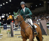 Kevin Babington (Israel), riding Mark Q at the Gucci Gold Cup International Jumping competition at the 2015 Longines Masters Los Angeles at the L.A. Convention Centre.<br /> October 3, 2015  Los Angeles, CA<br /> Picture: Paul Smith / Featureflash