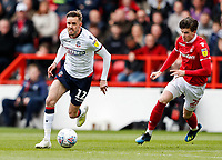 Bolton Wanderers' Craig Noone goes past Nottingham Forest's Sam Byram <br /> <br /> Photographer Andrew Kearns/CameraSport<br /> <br /> The EFL Sky Bet Championship - Nottingham Forest v Bolton Wanderers - Sunday 5th May 2019 - The City Ground - Nottingham<br /> <br /> World Copyright © 2019 CameraSport. All rights reserved. 43 Linden Ave. Countesthorpe. Leicester. England. LE8 5PG - Tel: +44 (0) 116 277 4147 - admin@camerasport.com - www.camerasport.com