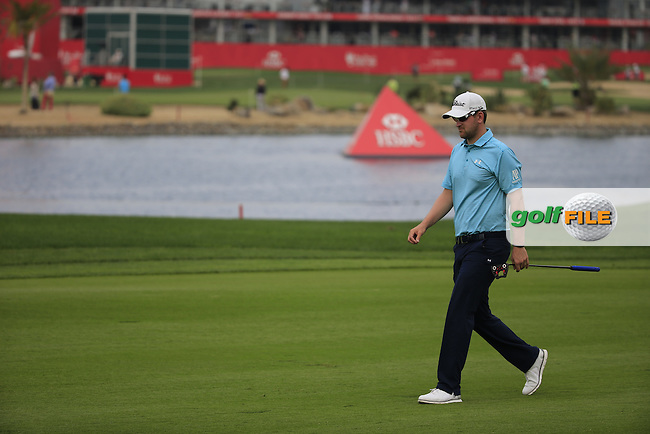 Bernd Wiesberger (AUT) on the 1st during the 1st round of the Abu Dhabi HSBC Championship, Abu Dhabi Golf Club, Abu Dhabi,  United Arab Emirates. 19/01/2017<br /> Picture: Golffile | Fran Caffrey<br /> <br /> <br /> All photo usage must carry mandatory copyright credit (&copy; Golffile | Fran Caffrey)