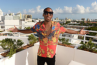 MIAMI BEACH, FL - OCTOBER 05: Jonn Hart poses for a portrait during the Empire Records DJ party held at Skydeck on October 5, 2018 in Miami Beach, Florida. <br /> CAP/MPI04<br /> &copy;MPI04/Capital Pictures