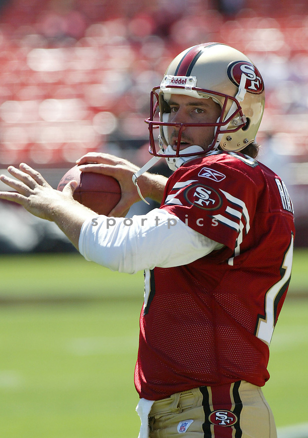 Tim Rattay, of the San Francisco 49ers, during thier game against the St. Louis Rams on September 11, 2005...49ers win 28-25..Rob Holt / SportPics