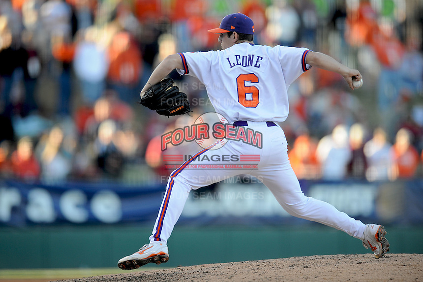 Dominic Leone (Pitcher) Clemson Tigers (Photo by Tony Farlow/Four Seam Images)