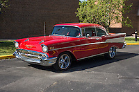 1957 Custom Senior (#109) – 1957 Chevrolet Bel Air 2-Door Hardtop registered to Billy West is pictured during 4th State Representative Chevy Show on Thursday, June 30, 2016, in Fort Wayne, Indiana. (Photo by James Brosher)