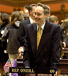 HARTFORD, CT- 03 JANUARY 07- 010307JT15-<br /> State Rep. Arthur O'Neill, R-Southbury, on the opening day of the General Assembly's 2007 session at the Capitol in Hartford.<br /> Josalee Thrift Republican-American
