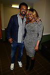 MIAMI, FL - JANUARY 16: Actor/comedian Mike Epps and  Radio personality Supa Cindy backstage during The Festival of Laughs day1 at James L Knight Center on Friday January 16, 2015 in Miami, Florida. (Photo by Johnny Louis/jlnphotography.com)