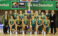 The Australian Opals team and management during the International women's basketball match between NZ Tall Ferns and Australian Opals at Te Rauparaha Stadium, Porirua, Wellington, New Zealand on Monday 31 August 2009. Photo: Dave Lintott / lintottphoto.co.nz