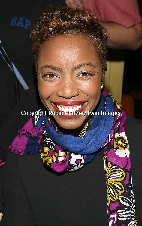 Heather Headley attends the Broadway Cares/Equity Fights Aids Flea Market and Grand Auction on September 25, 2016 at the Music Box Theatre and in Shubert Ally in New York, New York, USA. <br /> <br /> photo by Robin Platzer/Twin Images<br />  <br /> phone number 212-935-0770