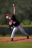 Illinois State Redbirds starting pitcher Jacob Hendren (35) delivers a pitch during a game against the Indiana Hoosiers on March 4, 2016 at North Charlotte Regional Park in Port Charlotte, Florida.  Indiana defeated Illinois State 14-1.  (Mike Janes/Four Seam Images)