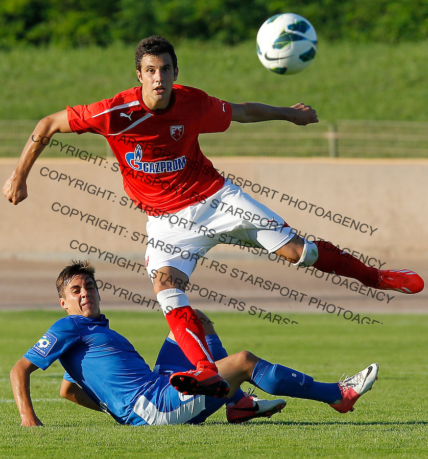 Fudbal season 2012-2013<br /> FK Crvena Zvezda <br /> Crvena Zvezda v Illichivets (Ukraine)<br /> Luka Milivojevic<br /> Krsko, 02.07.2013.<br /> foto: Srdjan Stevanovic/Starsportphoto &copy;