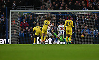 Brighton &amp; Hove Albion's Solly March scores his side 1st goal<br /> <br /> Photographer David Horton/CameraSport<br /> <br /> The Premier League - Brighton and Hove Albion v Chelsea - Sunday 16th December 2018 - The Amex Stadium - Brighton<br /> <br /> World Copyright &copy; 2018 CameraSport. All rights reserved. 43 Linden Ave. Countesthorpe. Leicester. England. LE8 5PG - Tel: +44 (0) 116 277 4147 - admin@camerasport.com - www.camerasport.com
