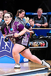 CLAYTON, MO - APRIL 14: Breanna Clemmer #10 of McKendree University watches the ball during the Division I Women's Bowling Championship held at Tropicana Lanes on April 14, 2018 in Clayton, Missouri. Vanderbilt University defeated McKendree University 4-3. (Photo by Tim Nwachukwu/NCAA Photos via Getty Images)