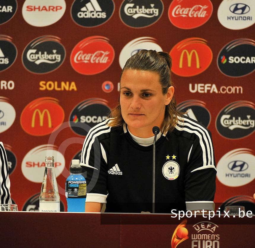 Friends Arena Solna - Stockholm ; MD-1 press conference Germany ;<br /> Nadine Angerer<br /> foto DAVID CATRY / Nikonpro.be