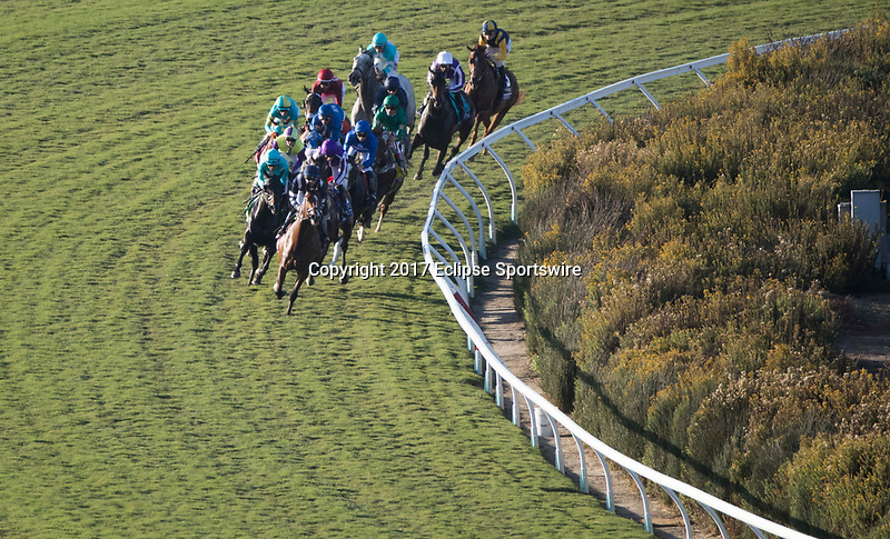 DEL MAR, CA - NOVEMBER 04: The field takes the third turn during Longines Breeders' Cup Turf on Day 2 of the 2017 Breeders' Cup World Championships at Del Mar Thoroughbred Club on November 4, 2017 in Del Mar, California. (Photo by Ting Shen/Eclipse Sportswire/Breeders Cup)