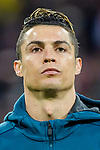 Cristiano Ronaldo of Real Madrid prior to the UEFA Champions League 2017-18 quarter-finals (2nd leg) match between Real Madrid and Juventus at Estadio Santiago Bernabeu on 11 April 2018 in Madrid, Spain. Photo by Diego Souto / Power Sport Images