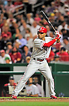 28 September 2010: Philadelphia Phillies' outfielder Raul Ibanez stands ready in the batting box against the Washington Nationals at Nationals Park in Washington, DC. The Nationals defeated the Phillies 2-1 on an Adam Dunn walk-off solo homer in the 9th inning to even up their 3-game series one game apiece. Mandatory Credit: Ed Wolfstein Photo