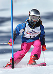 LEAD, SD - JANUARY 31, 2016 -- Skylar Williamson of the Black Hills Ski Team works through the slalom in the U10 category during the 2016 USSA Northern Division Ski Races at Terry Peak Ski Area near Lead, S.D. Sunday. (Photo by Richard Carlson/dakotapress.org)