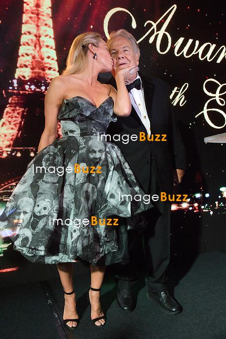 Pamela Anderson &amp; Massimo Gargia  : &quot; The Best &quot; 40th Edition &agrave; l'h&ocirc;tel George V.<br /> France, Paris, 27 janvier 2017.<br /> ' The Best ' 40th Edition at the George V hotel in Pais.<br /> France, Paris, 27 January 2017