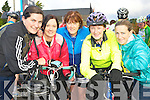 Pictured at Ava's charity cycle on Sunday in Killorglin were Annemarie O'Donoghue, Irene Heffernan, Kitty Flynn, Celine Roche and Lorraine Wall. ................................
