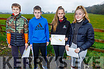Killorglin Community College students, Aaron Griffin, Darragh O'Connor, Kayleigh Griffin and Aoibhinn Coffey go orienteering on Friday morning in Ballyseede Woods, as part of the ETB Junior Cycle Assessment
