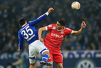 FUSSBALL   1. BUNDESLIGA   SAISON 2012/2013    23. SPIELTAG FC Schalke 04 - Fortuna Duesseldorf                        23.02.2013 Sead Kolasinac (FC Schalke 04) gegen Leon Balogun (re, Duesseldorf)