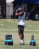 Chiliboy Ralepelle during the cell c sharks pre season training session at  Growthpoint Kings Park ,22,01,2018 Photo by Steve Haag)