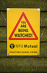 'You are being Watched' NFU Mutual sign fighting rural crime