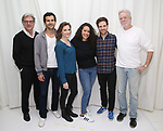 "Matt Williams, Gabriel Sloyer, Mairin Lee, Keren Lugo, Ben Rappaport and John Pasquin attends the cast photocall for the Worls Premiere of ""Actually, We're F**ked"" at TheaterLab on January 29, 2019 in New York City."