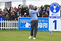 Pablo Larrazabal (ESP) on the 1st tee during Round 1 of the Open de Espana 2018 at Centro Nacional de Golf on Thursday 12th April 2018.<br /> Picture:  Thos Caffrey / www.golffile.ie<br /> <br /> All photo usage must carry mandatory copyright credit (&copy; Golffile | Thos Caffrey)