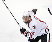 Brodie Reid (Northeastern - 15) - The Northeastern University Huskies defeated the visiting Providence College Friars 5-0 on Saturday, November 20, 2010, at Matthews Arena in Boston, Massachusetts.