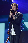 SUNRISE, FL - DECEMBER 21: Jake Roche of Rixton performs during the Y100's Jingle Ball 2014 at BB&T Center on December 21, 2014 in Miami, Florida. Credit Larry Marano (C) 2014