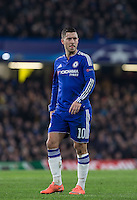 Eden Hazard of Chelsea during the UEFA Champions League Round of 16 2nd leg match between Chelsea and PSG at Stamford Bridge, London, England on 9 March 2016. Photo by Andy Rowland.