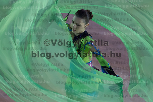 Adelina Sotnikova of Russia silver medalist in the Women's Figure Skating competition performs during the gala exhibition of the ISU European Figure Skating Championships in Budapest, Hungary on January 19, 2014. ATTILA VOLGYI