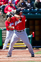Michael Bianucci (33) of the Frisco RoughRiders at bat during a game against the Springfield Cardinals on April 16, 2011 at Hammons Field in Springfield, Missouri.  Photo By David Welker/Four Seam Images.