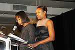 """Naeemha Reyes & Deborah Koenigsberger at The Fourteenth Annual Hearts of Gold Gala """"Hooray for Hollywood!"""" - with its mission to foster sustainable change in lifestyle and levels of self-sufficiency for homeless mothers and their children on October 28, 2010 at the Metropolitan Pavillion, New York City, New York. (Photo by Sue Coflin/Max Photos)"""