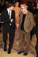 Jesse Eisenberg, Woody Allen.Roma 13/4/2012 Auditorium.To Rome with Love - World Premiere.Foto Insidefoto Andrea Staccioli
