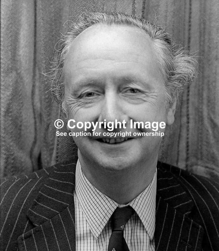 Sir Robin Kinahan, Castle Upton, N Ireland, UK, politician, businessman, former Lord Mayor of Belfast, 21st May 1972, 197205210335<br />