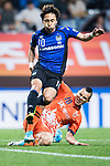 Gamba Osaka Midfielder Kurata Shu (L) fights for the ball with Jeju United Forward Marcelo Toscano (R) during the AFC Champions League 2017 Group H match Between Jeju United FC (KOR) vs Gamba Osaka (JPN) at the Jeju World Cup Stadium on 09 May 2017 in Jeju, South Korea. Photo by Marcio Rodrigo Machado / Power Sport Images