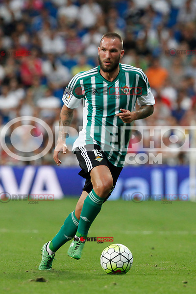 Real Betis´s Digard during La Liga match at Santiago Bernabeu stadium in Madrid, Spain. August 29, 2015. (ALTERPHOTOS/Victor Blanco)