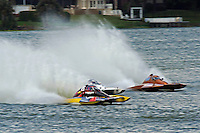 "Brandon Kennedy, S-25 ""Shameless"", Bobby Kennedy,S-88 ""Playin Again"" and Gene DeFalco, S-80 ""On The Edge"" (2.5 Litre Stock hydroplane(s)"