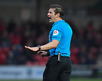 Referee Robert Jones<br /> <br /> Photographer Dave Howarth/CameraSport<br /> <br /> The EFL Sky Bet League One - Fleetwood Town v Sunderland - Tuesday 30th April 2019 - Highbury Stadium - Fleetwood<br /> <br /> World Copyright © 2019 CameraSport. All rights reserved. 43 Linden Ave. Countesthorpe. Leicester. England. LE8 5PG - Tel: +44 (0) 116 277 4147 - admin@camerasport.com - www.camerasport.com