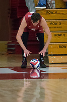 STANFORD, CA - December 30, 2017: JP Reilly at Burnham Pavilion. The Stanford Cardinal defeated the Calgary Dinos 3-1.
