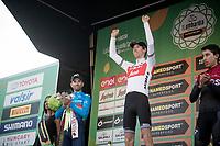 Bauke Mollema (NED/Trek-Segafredo) wins his first ever Monument Classic ahead of Alejandro Valverde (ESP/Movistar) & Egan Bernal (COL/Ineos)<br /> <br /> 113th Il Lombardia 2019 (1.UWT)<br /> 1 day race from Bergamo to Como (ITA/243km)<br /> <br /> ©kramon