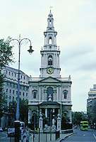 James Gibbs: St. Mary-Le-Strand, London 1714-17. Photo '79.