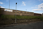 Bacup Borough 4 Holker Old Boys 1, 25/04/2016. Brain Boys West View Stadium, NorthWest Counties League Division One. An exterior view of the Brain Boys West View Stadium before Bacup Borough play Holker Old Boys in a NorthWest Counties League division one fixture. Formed as Bacup in 1879, the club moved into their current home in 1889 and have been known as Bacup Borough since the 1920s, apart from a brief recent spell when they added the name Rossendale to their name. With both teams challenging for play-off places, Bacup Borough won this fixture by 4-1, watched by a crowd of 50. Photo by Colin McPherson.
